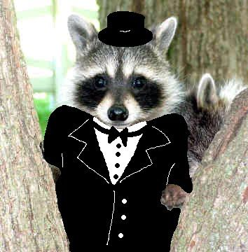 chunky in a tux